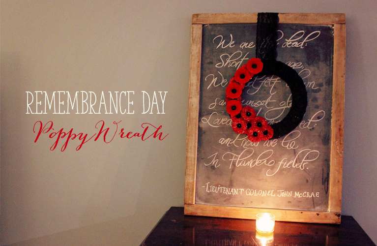 Remembrance Day Poppy Wreath, using Canadian Lapel Poppies