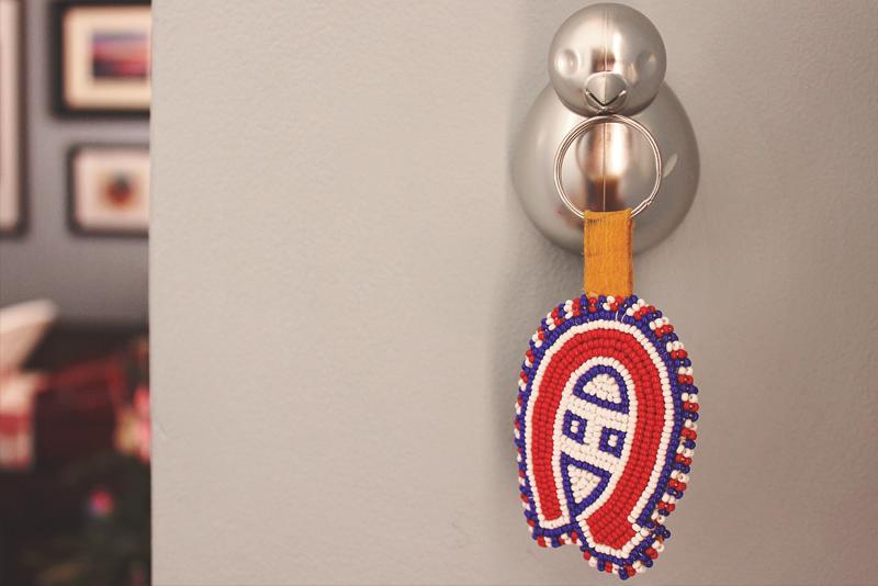 Custom Handmade Beaded Habs Keychain | Alex Inspired