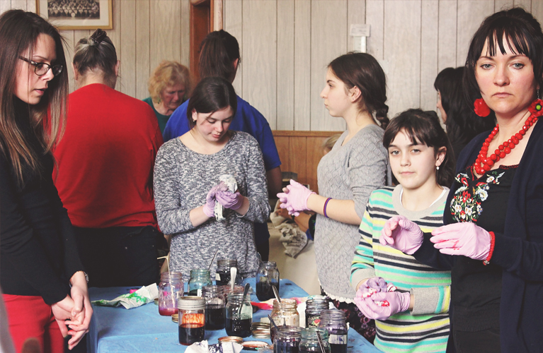Thunder Bay Pysanky Workshop, dyeing the eggs | Alex Inspired