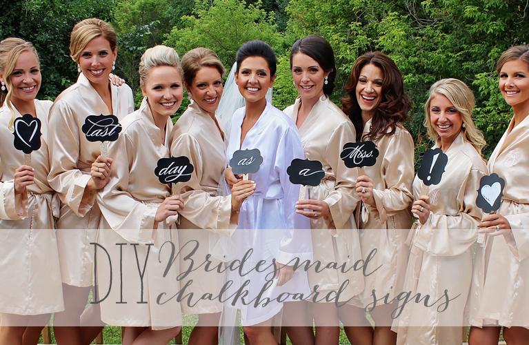 Thunder Bay Weddings! Bridesmaids holding handmade DIY Bridesmaid chalkboard signs , surrounding Bride!   Alex Inspired