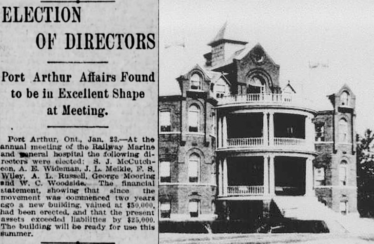 Election of Directors at the Railway Marine and General Hospital of Port Arthur - 1911