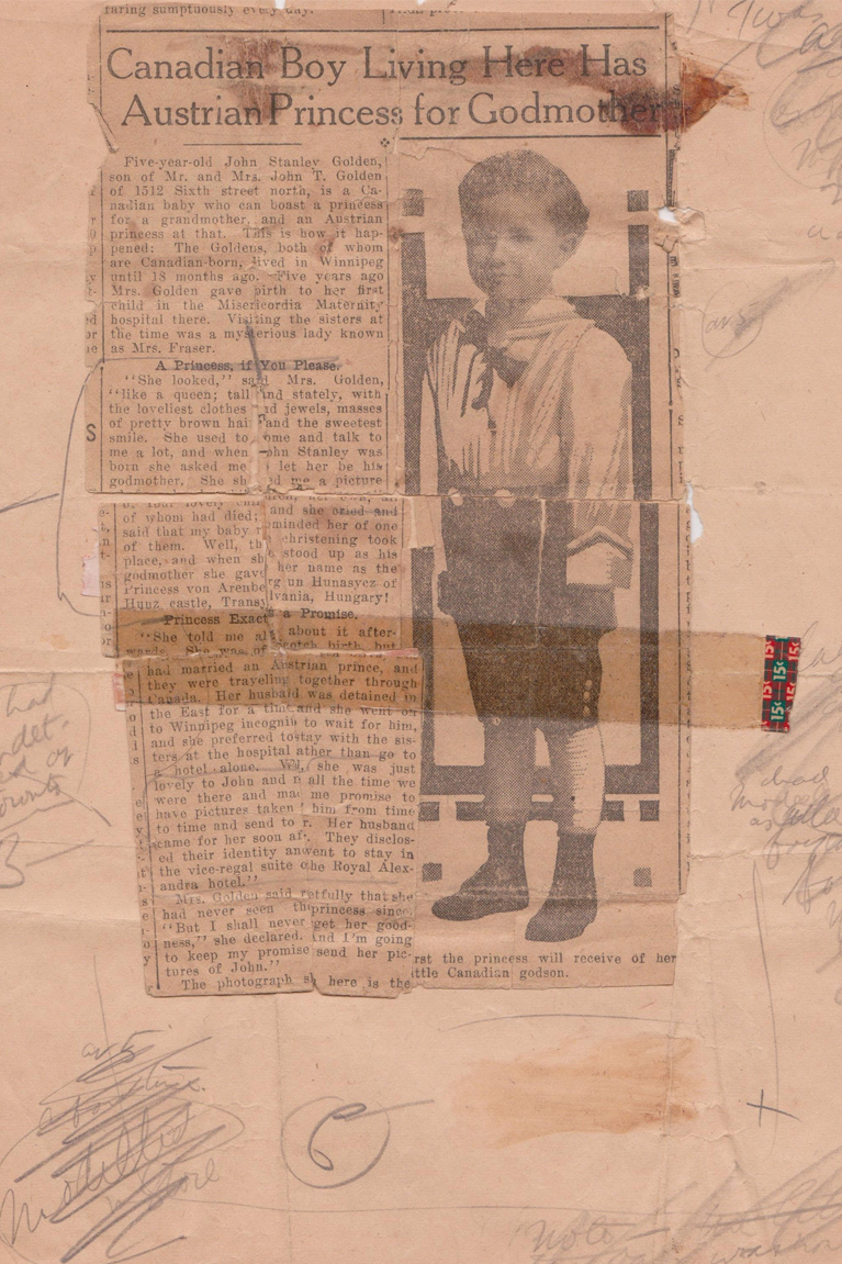 Original Newspaper Article of Stanley Golden's Princess Godmother