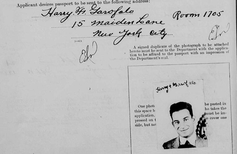 Passport Application Particulars | American Passport Application Images: Harry Garofalo