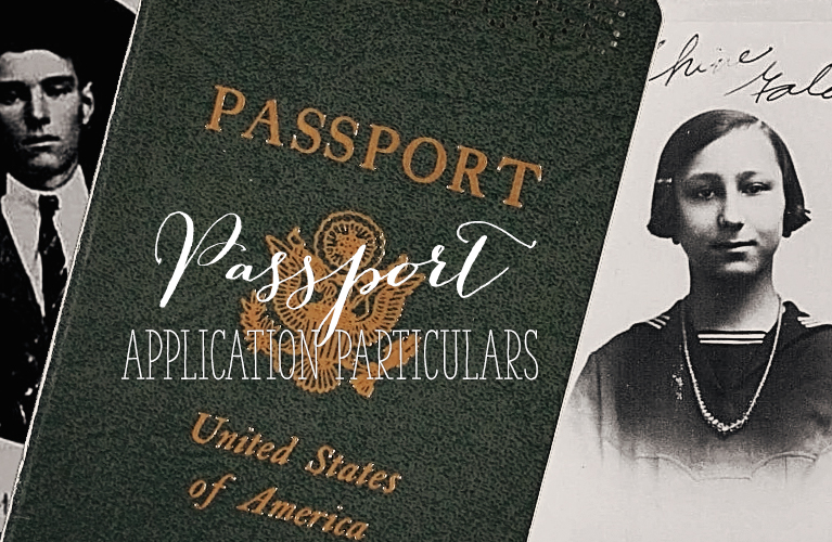 Vingage American Passport Applications | Alex Inspired