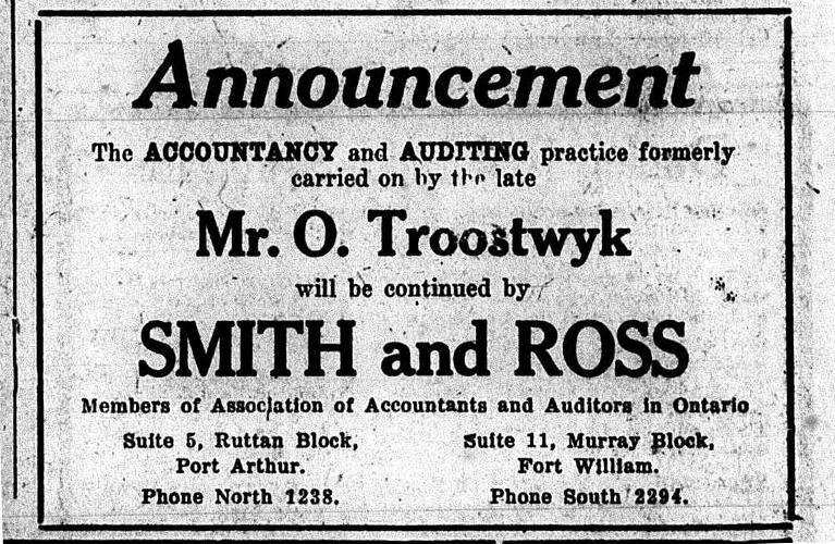 Oscar Troostwyk - Accountant in Port Arthur - Alex inspired