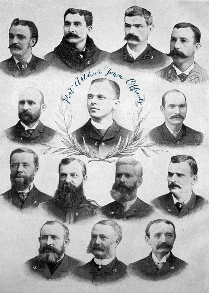Town officials of Port Arthur 1880s | Alex Inspired