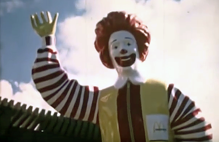 Hard plastic Ronald McDonald at McDonaldland | Alex Inspired