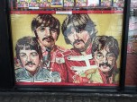 Picture of The Beatles made our of beans
