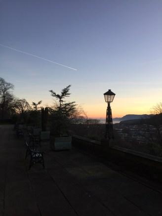 Bangor at sunset