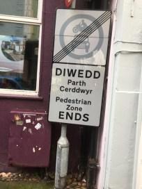 Street sign (Caernarfon)