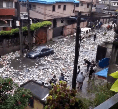 597329dbbe651 - OMG! See What A Street In Surulere Currently Looks Like After The Heavy Downpour Last Night