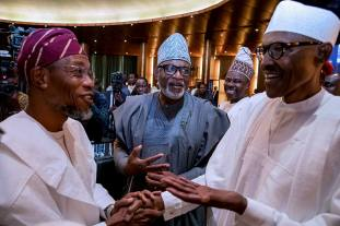 Image result for Buhari meets with APC, PDP leaders and governors in Abuja
