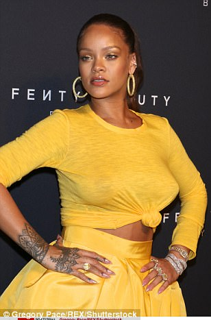 59b26baa7d2f1 - Rihanna Slays in Yellow Crop Top & Sexy Skirt With Slit