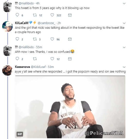 Nicki Minaj tweeted in 2012 about beating up a bully at age 11 and the alleged bully just replied the tweet, causing an uproar on Twitter