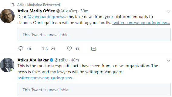 59cbf903554a1 - 'This Is The Most Disrespectful Act I Have Seen ' – Atiku Threatens Vanguard Over 'Fake News'