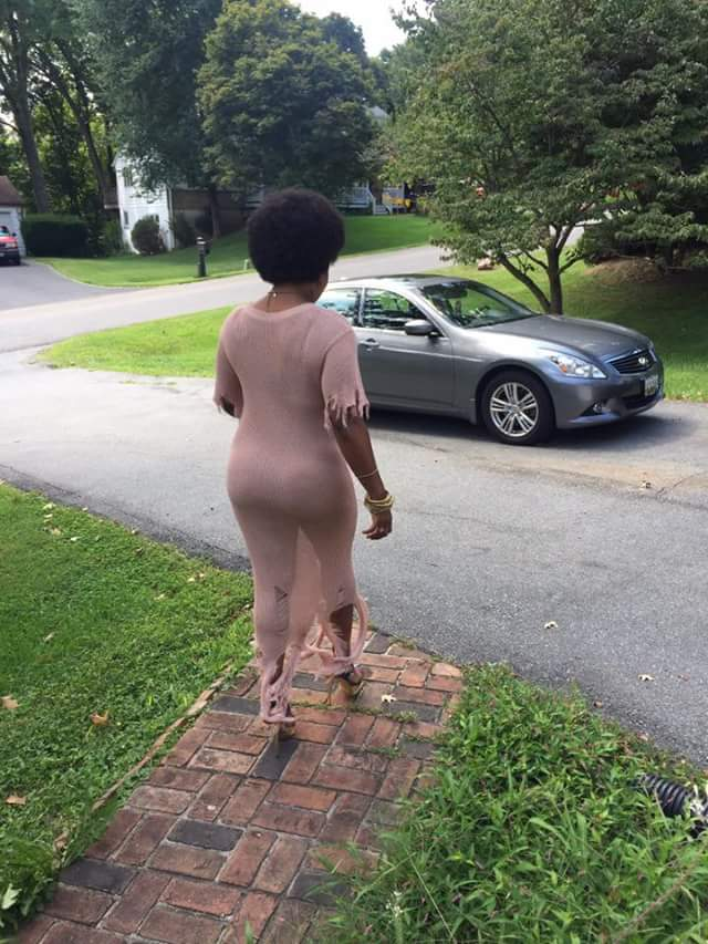 """""""Take them nickers off for a change and feel the freedom"""" - Woman channels Zodwa Wabantu, steps out without underwear"""