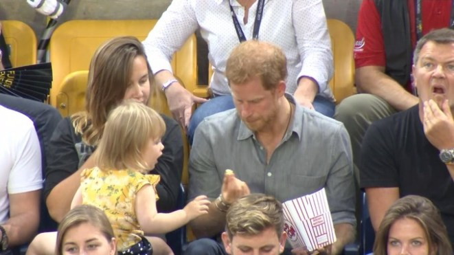 Toddler takes Prince Harry