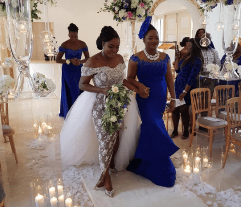 Nigerian lady explains why her mother walked her down the aisle on her wedding day