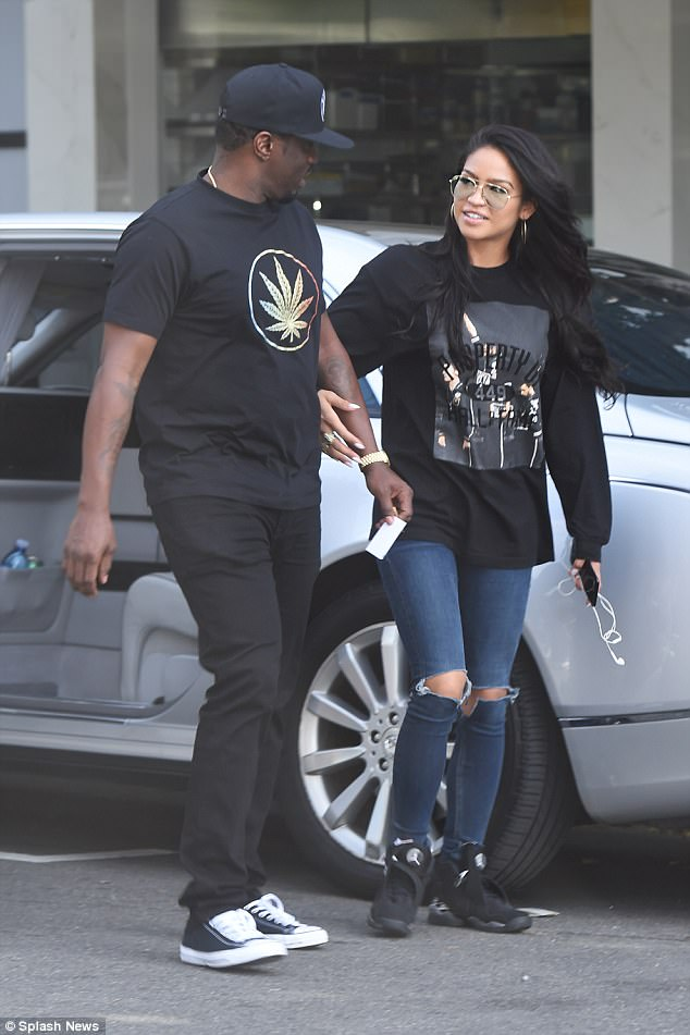 Photos: Diddy holds hands with girlfriend Cassie as he takes her on lingerie shopping in Hollywood