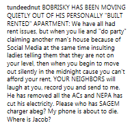 Tunde Ednut claims Bobrisky has been qiuetly moving out of his home, claims it is rented