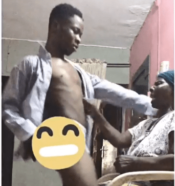 Video: Nigerian man gives his grandmum a lapdance