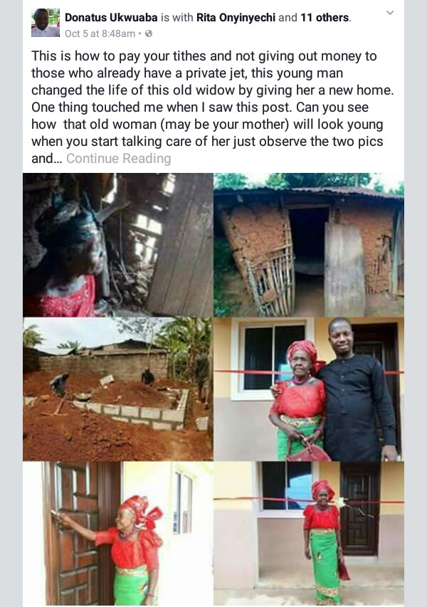 """Nigerian man says people should do this with their tithes """"instead of giving out money to those who already have private jets"""""""