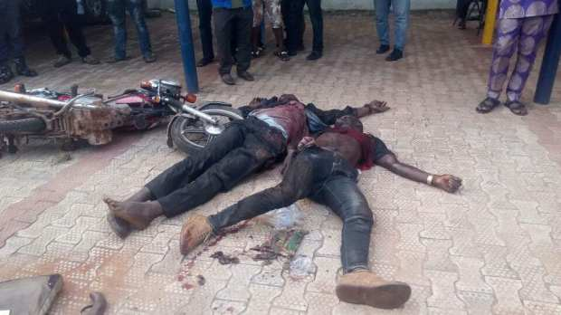 Photos: Police kill two kidnappers, rescue victim in Anambra