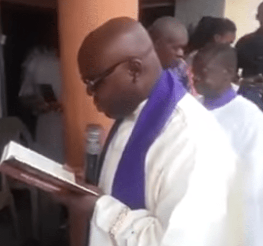 Photos from the burial of DJ Olu