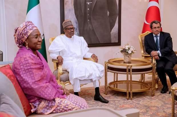 President Buhari meets with Turkey