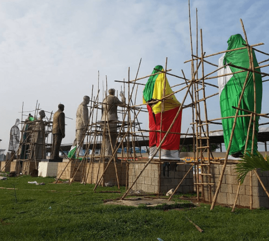 See a leaked photo of a few of the remaining statues that Governor Rochas is yet to commission..can you tell who they represent?