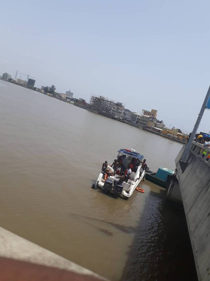 Exclusive update/photos: The man who jumped into the Lagos Lagoon today was married....