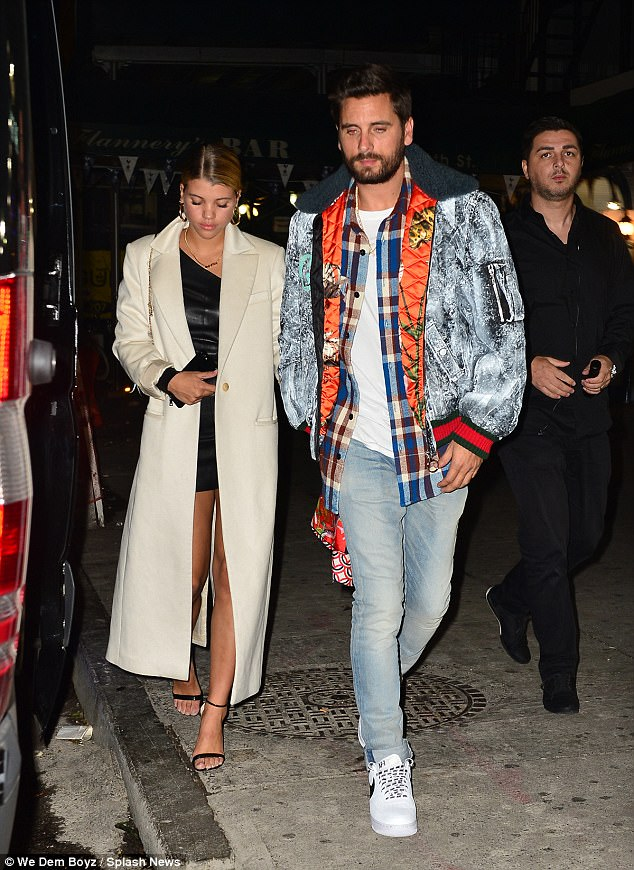 Scott Disick and his girlfriend Sofia Richie hold hands as they go clubbing in NYC  (Photos)