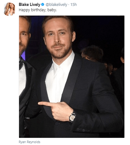 Actress Blake Lively gets ultimate revenge on her husband Ryan Reynolds as she crops him out of birthday picture