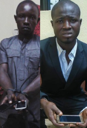 Photos: RRS parades two corporate pickpockets apprehended in Lagos