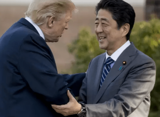 Photos: President?Trump arrives in Japan, the first in his five-country Asian tour?