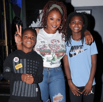 Kevin Hart & ex-wife, Torrei, celebrate their son Hendrix?s 10th birthday with a ninja warrior-themed party in LA (photos)