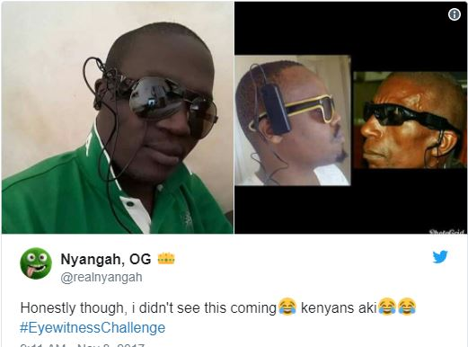 Everything is a joke for Africans! Kenyans flood Twitter with #EyewitnessChallenge and it