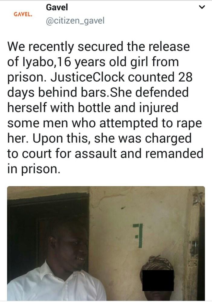 16yr old spends 28 days in prison after fighting off and injuring the men who tried to rape her