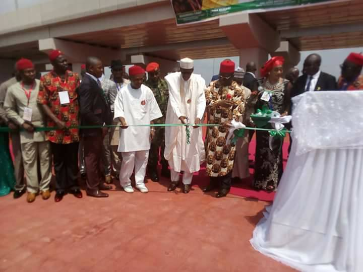Photos: President Buhari commissions projects in Ebonyi state