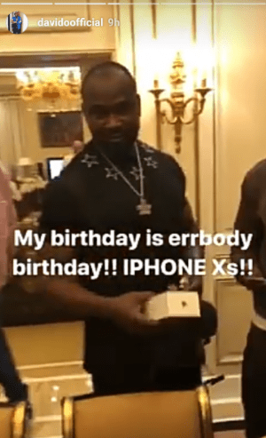 Davido buys iPhone X for each member of his team in celebration of his upcoming birthday