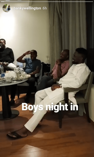 BankyW and his groomsmen had a