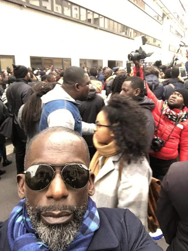 Photos/Video: Hundreds of Africans including Didier Drogba flock to Libyan Embassy in Paris to protest alleged slave markets as reported by CNN