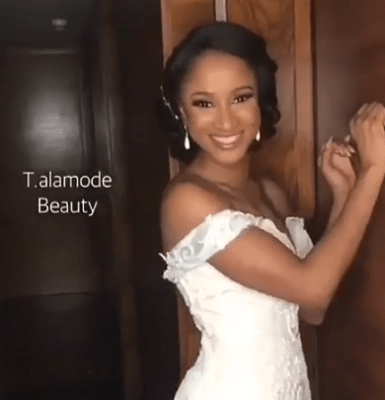 Adesua is such a beautiful bride...see her makeup photos
