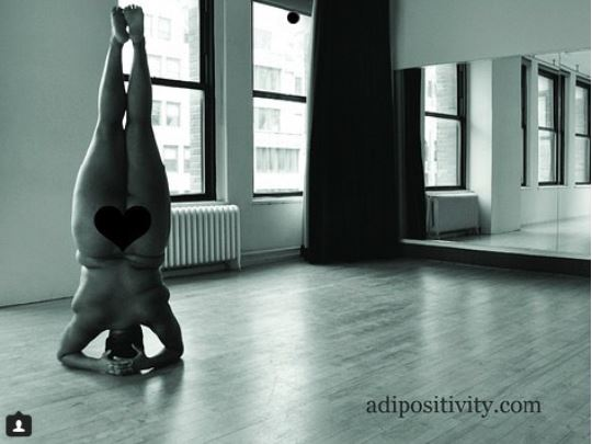 Plus-sized yoga instructor goes nude in new photos as she writes on body positivity?