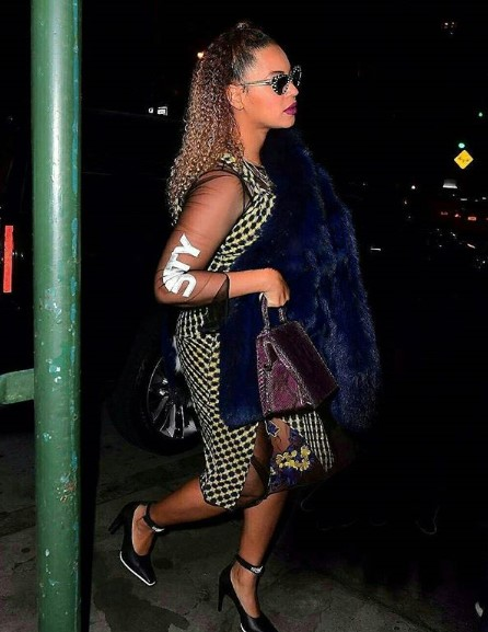 Beyonce and her husband Jay Z seen leaving the movies on his birthday