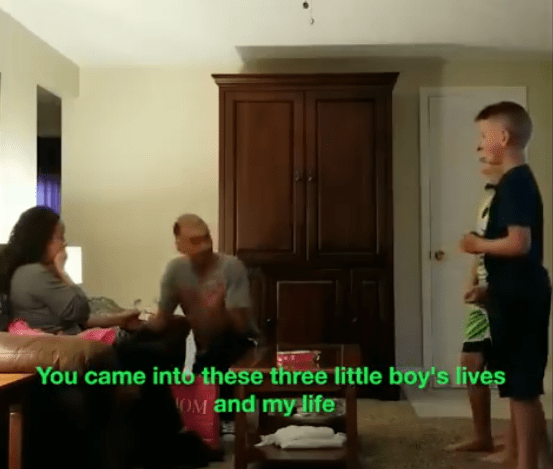 sons helped dad propose