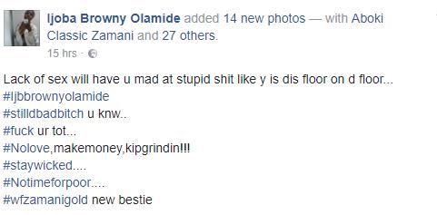 Facebook user says