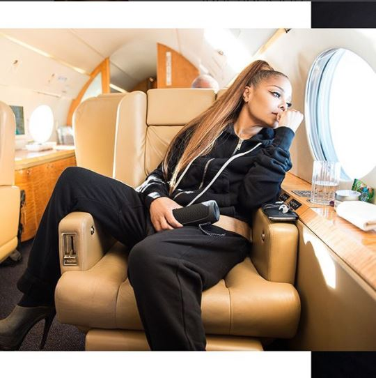Janet Jackson jets out in style for her shows (Photos)