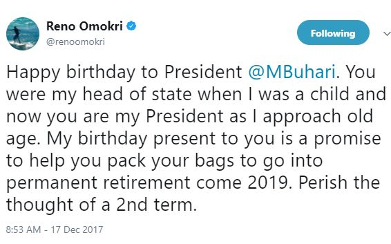 My birthday present to you is a promise to help you pack your bags to go into permanent retirement come 2019