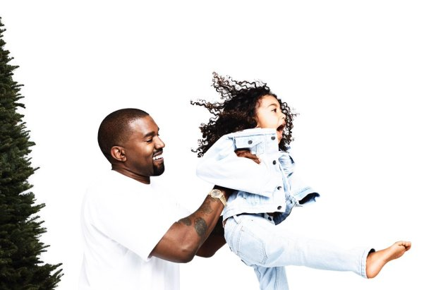 Adorable photo of Kanye West all smiles as he plays around with daughter, North